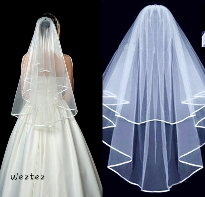 Bridal Veils With Comb Ivory White Color Bride Wedding Elegant Wedding Veil Long Soft  Accessories TS004