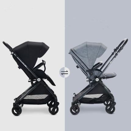 Lightweight reversable baby stroller,kinderwagen, folding Pram carts ,handle and seat reversable baby carriage