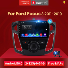 Junsun V1 Carplay Android 10 AI Voice Control Car Radio Multimedia Video Player For Ford Focus 3 2011-2019 Navigation no 2din