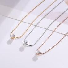 Элегантный Блестящий кристалл кулон ожерелье женщин простые