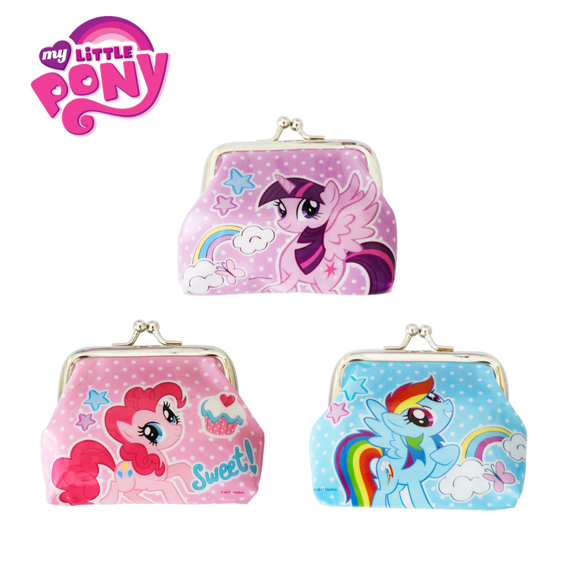 Original My Little Pony Cute Cartoon Backpack Mini Coin Purse Rainbow Unicorn Handbag Snack Pack Kids Xmas Gifts Girl Toy