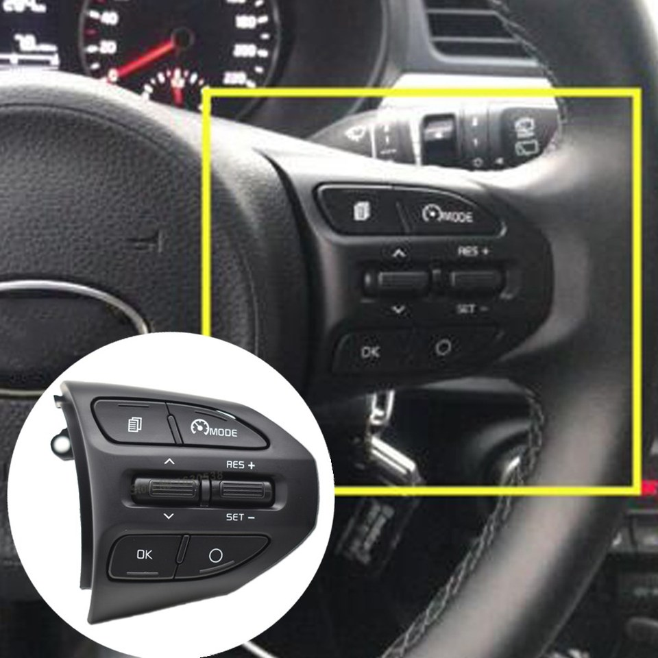 Rumors 96720G6010 Genuine Steering Wheel RH Cruise Control Switch Fit for Kia Picanto 2017~2019+ Color : Blue