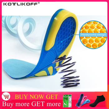 Silicon Gel Insoles Foot Care for Plantar Fasciitis Heel Spur Running Sport Shock Absorption Pads arch orthopedic insole - discount item  52% OFF Shoe Accessories