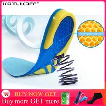 Silikonowe wkładki żelowe pielęgnacja stóp dla podeszwy Fasciitis Heel Spur sportowe wkładki do butów amortyzacja klocki arch wkładka ortopedyczna tanie tanio KOTLIKOFF 1 cm-3 cm Średnie (b m) MJ003 Stałe Szok-chłonnym Anti-śliskie Oddychające Szybkoschnący Dezodoryzacji