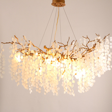 Nordic Gold Copper LED Pendant Lights 110-260V Living room Bedroom Hanging Lamp Dining room Pendant Lamp Home Loft Decoration