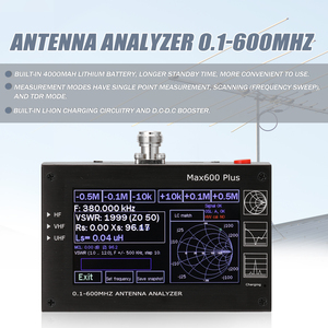 Image 4 - Max600 Plus HF VHF UHF Antenna Analyzer 0.1 600MHz 5V/1.5A with 4.3inch TFT LCD Touching Screen Digital Standing Wave