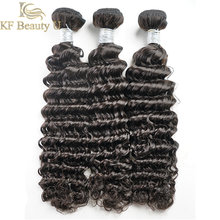 Deep Wave Human Hair Bundles Natural Color Malaysian Remy Sew In Hair Extensions 3/4 PCS Hair Weave for Women