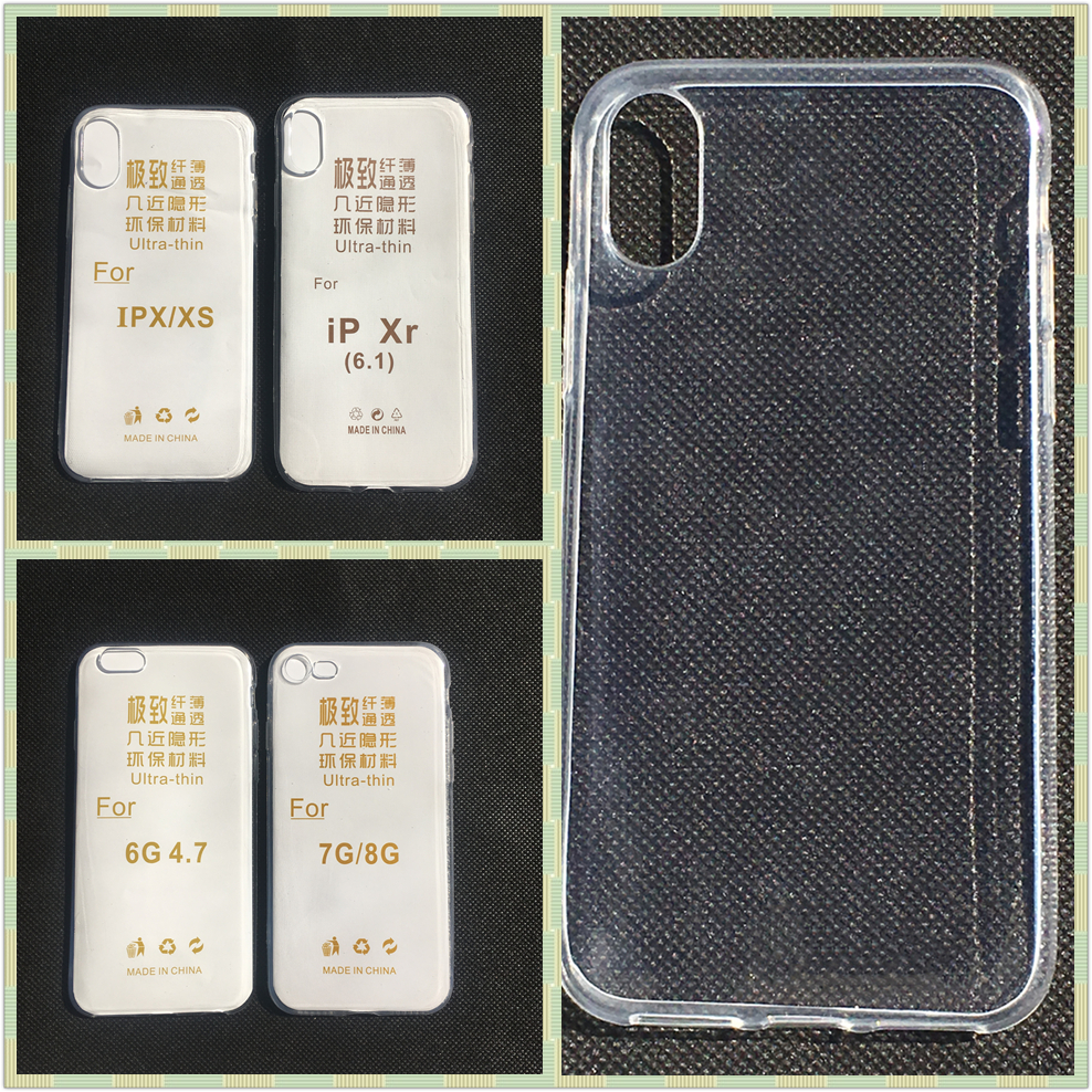 Transparent Silicon Case For iphone 11 Back LCD Phone Protect Case Ultra Thin Cover For iphone XS XR XS MAX 6 7 8 6 Pus 7Plus 6S(China)
