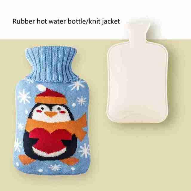 Фото 500 мл симпатичная мультяшная сумка для бутылки с горячей водой
