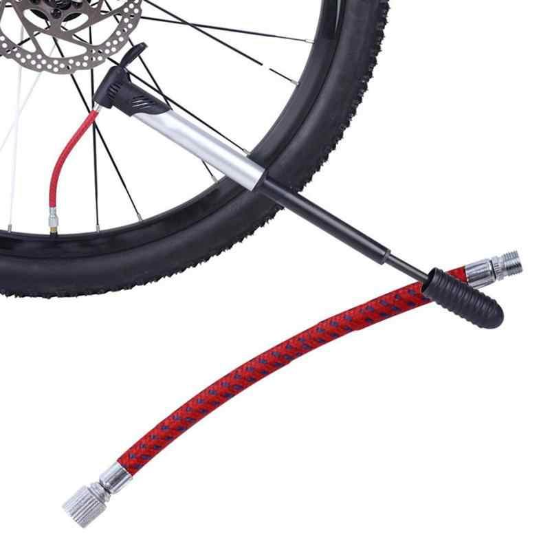 1PC Portatile Della Bici Della Bicicletta Della Gomma Mano Pompa di Aria Gonfiatore di Ricambio 7 millimetri Tubo di 60 centimetri Tubo In Treccia