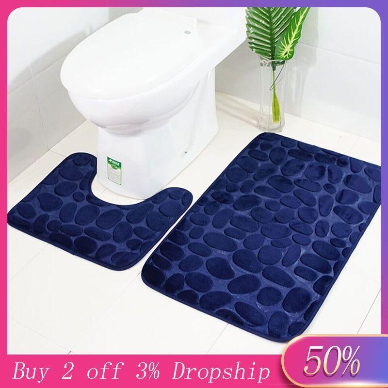 2pcs Non-Slip Suction Grip Bath Mat Bathroom Kitchen Carpet Doormats 3d Bathroom Rugs Tapis De Bain 3d Tapis De Bain #40