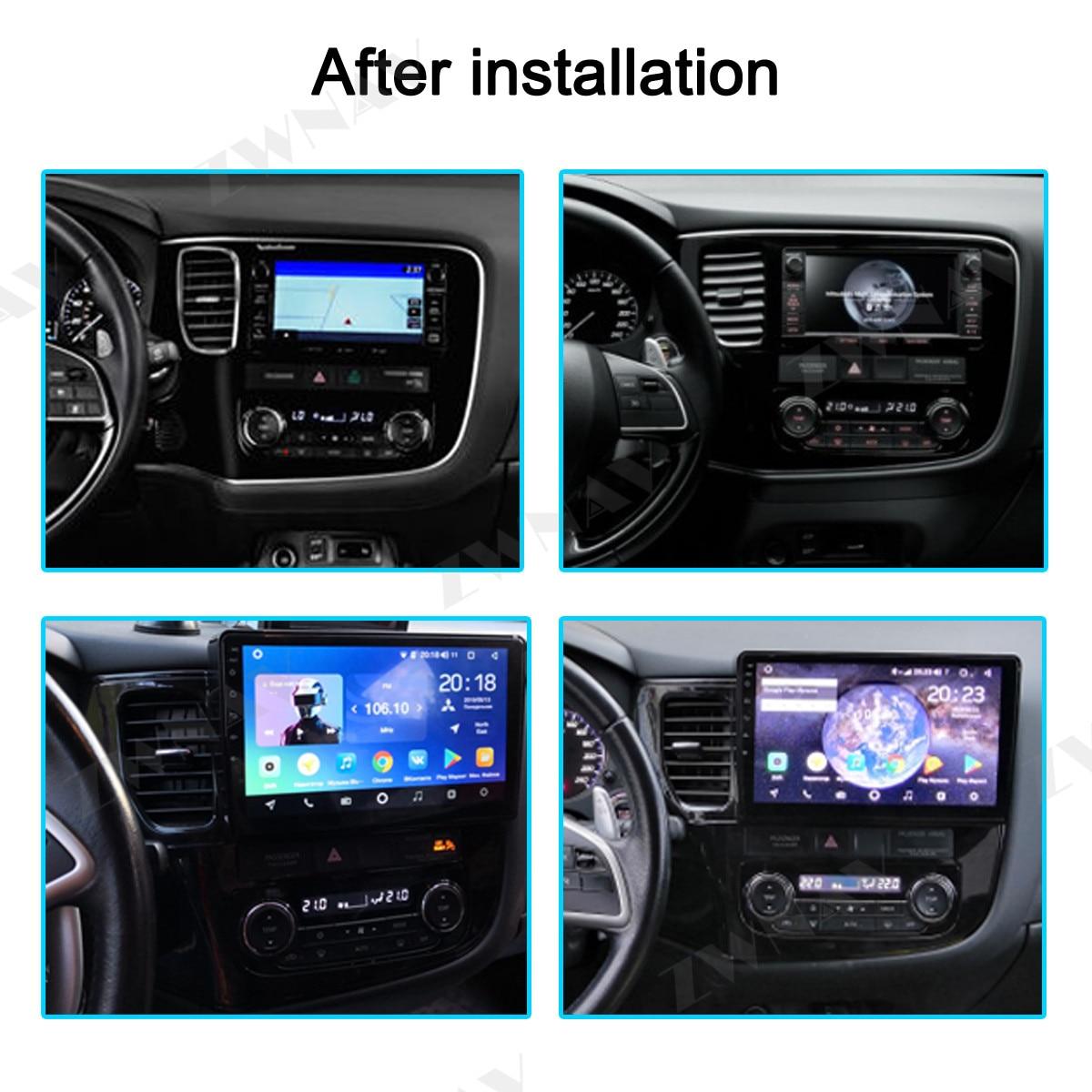 DSP Android 9,1 автомобильный dvd GPS; Мультимедийный проигрыватель для Mitsubishi Outlander xl 3 автомобильный навигационный Радио Аудио Видео плеер BT головно...