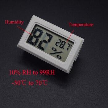 Mini Digital Humidity Meter Thermometer Hygrometer Sensor Gauge LCD Temperature Refrigerator Aquarium Monitoring Display Indoor 4