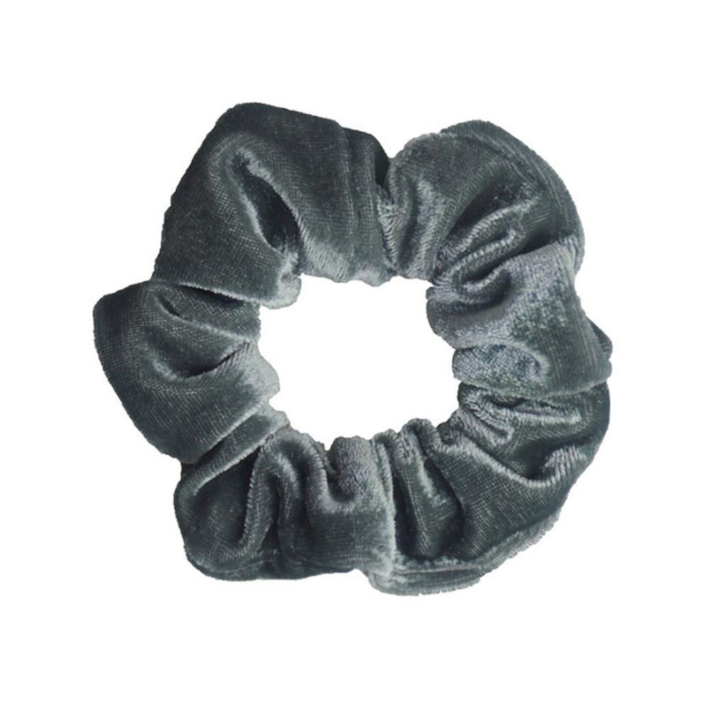 1 шт., женское эластичное кольцо для волос, зимние мягкие бархатные резинки, резинки для волос, милые одноцветные аксессуары для волос, держатель для конского хвоста - Цвет: 11