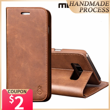 Musubo Luxury Leather Flip Stand Case Cover For Galaxy S20 Ultra Note 9 Samsung S10 Plus + S10e S9 Card Wallet Cases Capa Coque