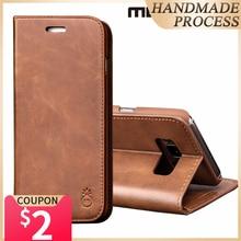 Musubo luksusowe skórzane etui z klapką skrzynki pokrywa dla Galaxy S20 Ultra uwaga 9 Samsung S10 Plus + S10e S9 karty portfel przypadki Capa Coque