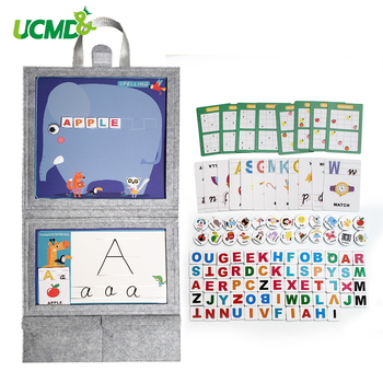 Learning English Word Alphabet Crossword puzzle Game Montessori Early Development Learning Educational Teaching Toys Kids Gift