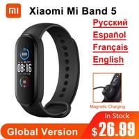 Originale Xiaomi Mi Band 5 versione globale Smart Miband5 bracciale Sport cardiofrequenzimetro Fitness Tracker Bluetooth impermeabile BT5.0