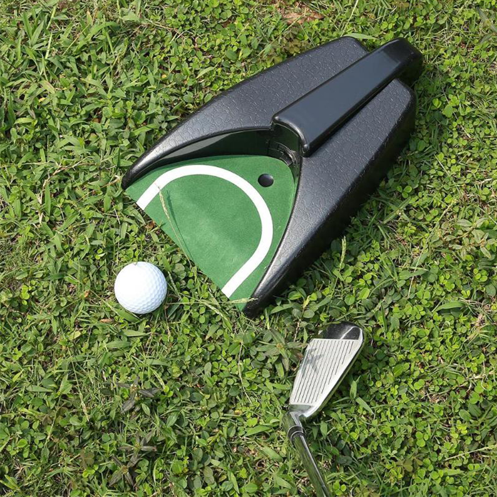 Golf Automatic Putting Cup Indoor Golf Putting Hole Golf Return Machine Training Indoor Office Portable Golf Training Equipment
