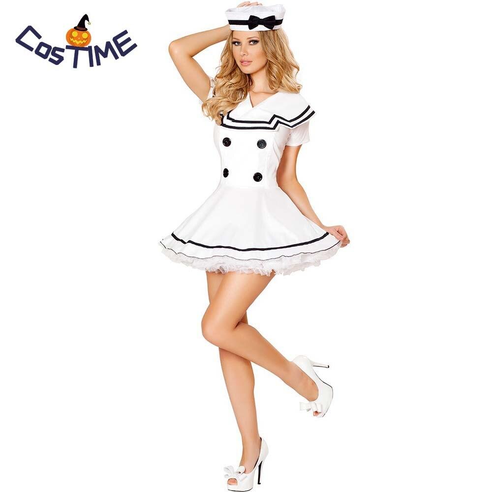 Mini White Sailor Hat Ladies Fancy Dress Navy Uniform Adults Costume Accessory