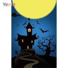 Yeele Halloween Photocall Moon Bats Castle Tombs Photography Backdrops Personalized Photographic Backgrounds For Photo Studio