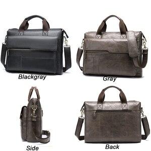 Image 3 - MVA erkek evrak çantası hakiki deri laptop çantası erkek deri çanta ofis çantaları erkekler için laptop avukat evrak çantası erkek çanta 8615