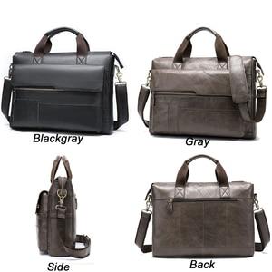 Image 3 - MVA mens briefcase Genuine Leather laptop bag mens leather bag office bags for men laptop briefcase lawyer men bags 8615