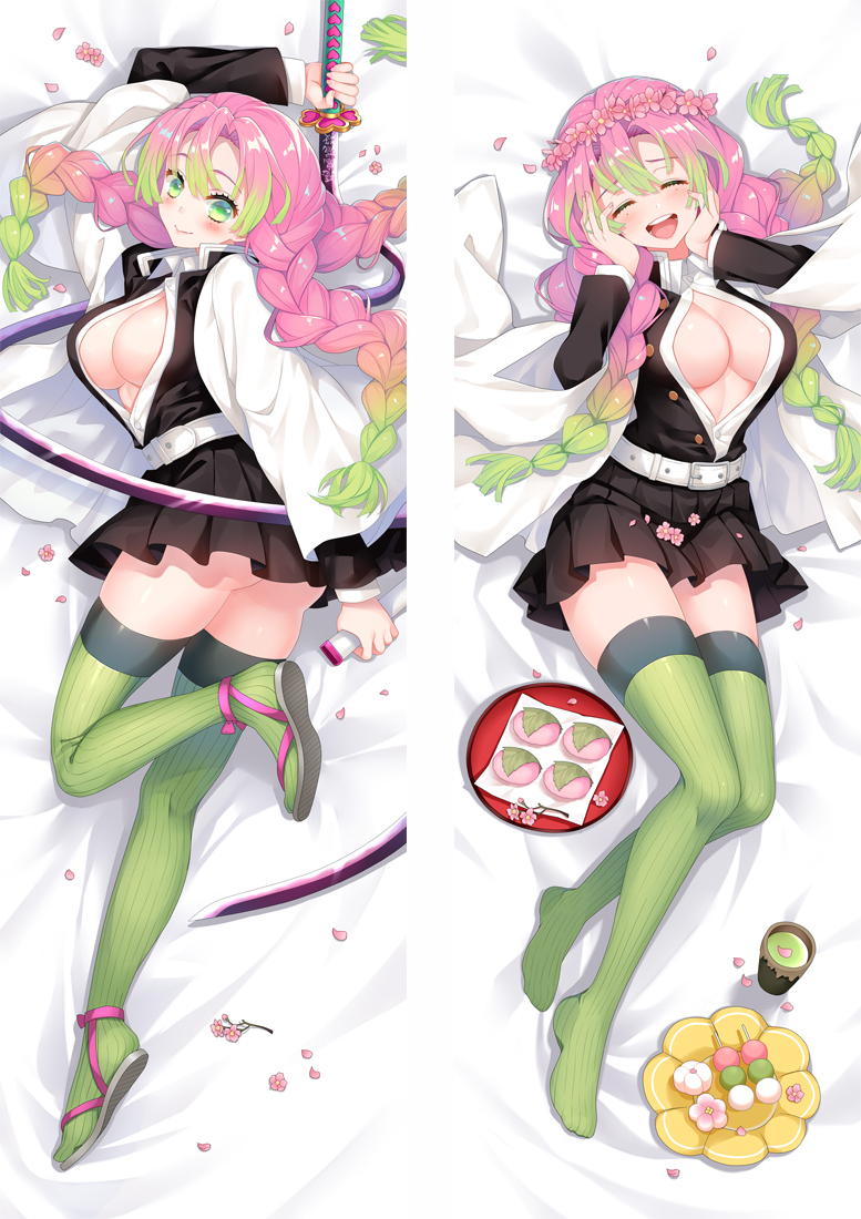 Demon Slayer: Kimetsu No Yaiba Kanroji Mitsuri Cosplay Dakimakura Pillow Case Hugging Body