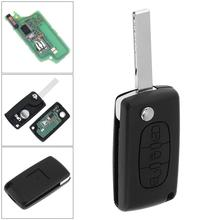 433MHz 3 Buttons Keyless Uncut Flip Remote Key Fob Light Button ID46 Chip and HU83 Blade CE0536 for Citroen C3 C4 C5 Models 433mhz 2 buttons keyless uncut flip remote key fob with id46 chip for citroen saxo picasso xsara berlingo sx9 d25 new listing