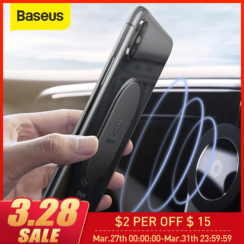 Baseus Leather Sheet For Magnetic Car Phone Holder Tiny And Thin Magnet Disk Iron Plate Paste On Magnetic Mobile Phone Holder