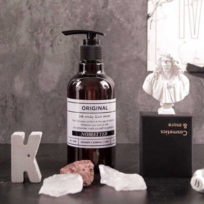 250ML/500ML Shampoo Press Bottle Liquid Shower Gel Bathroom Dispenser Soap Bottle Portable Simple Nordic Style