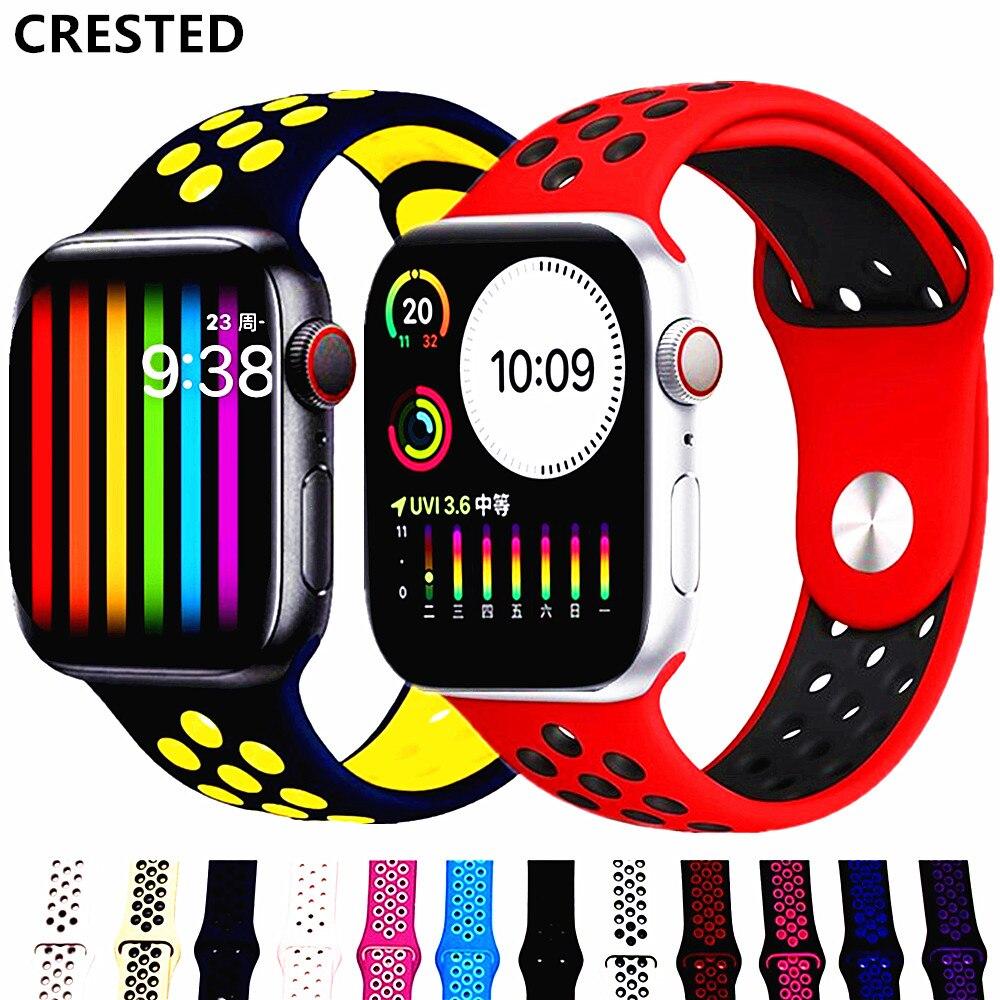 Pulseira do esporte para apple relógio de pulso faixa 44mm/40mm apple watch 5 4 3 banda iwatch banda 5 42mm/38mm correa pulseira cinto relógio acessórios