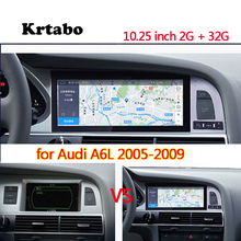 سيارة راديو الروبوت مشغل وسائط متعددة لأودي A6L 2005 2006 2007 2008 2008 10.25 بوصة تعمل باللمس GPS Carplay