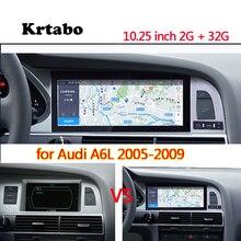 자동차 라디오 안 드 로이드 멀티미디어 플레이어 아우디 a6l 2005 2006 2007 2008 2008 10.25 인치 터치 스크린 gps carplay