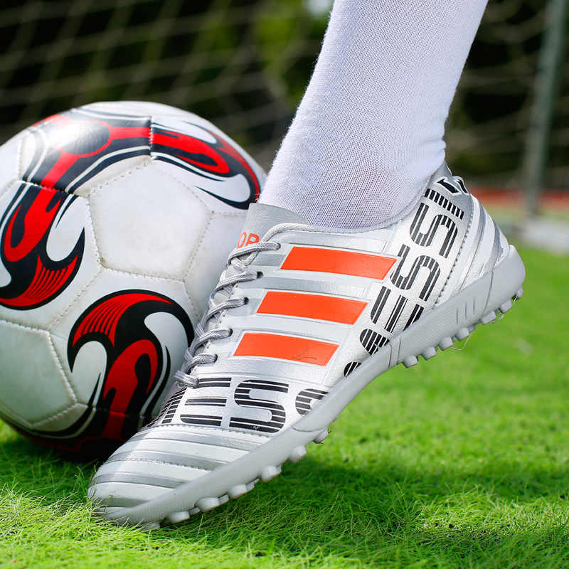 Chaussures De Football pour hommes, Chaussures De Football TF, Chaussures De sport pour enfants et adultes