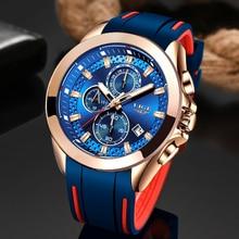 LIGE New all blueMens Watches Top Luxury Brand Men Sports Watch Men's Quartz Date Clock Waterproof Wristwatch Relogio Masculino