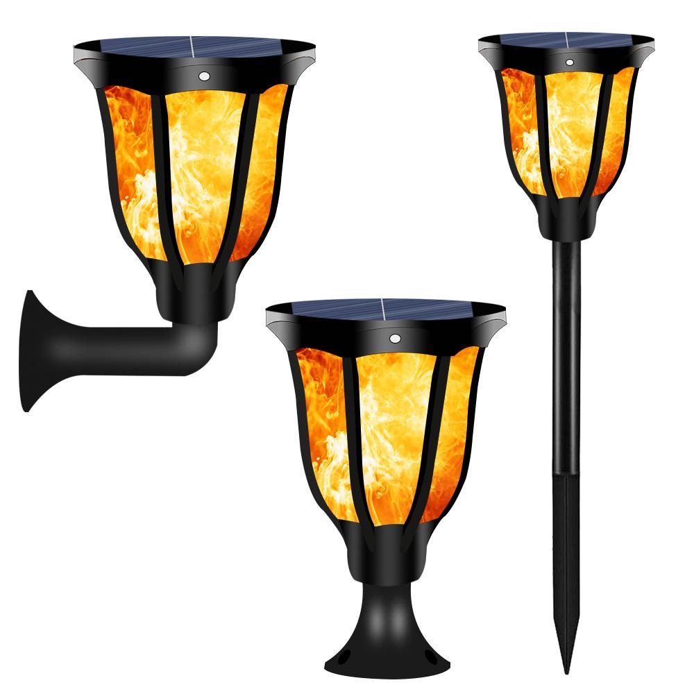 1/2Pcs 96 LED Wasserdicht Flackern Flamme Solar Taschenlampe Outdoor Landschaft Dekoration Garten Rasen Lampe für Hof balkon
