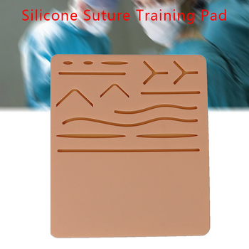 Medical Silicone Human Traumatic Skin Model Suturing Training Pad Suture Training Kit for Doctor Nurse Student Practice tool vulvar incision suture training model vulva suturing training simulator