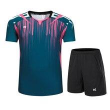 Костюм для бадминтона, мужская и женская одежда для настольного тенниса, футболка, одежда для тенниса, быстросохнущая рубашка для бадминтона