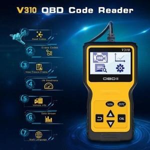 Image 2 - V310 OBDII EOBD Auto Code Reader 6 Languages Automobile Diagnostic Scanner For All OBD2 OBDII Protocols Cars LCD Display