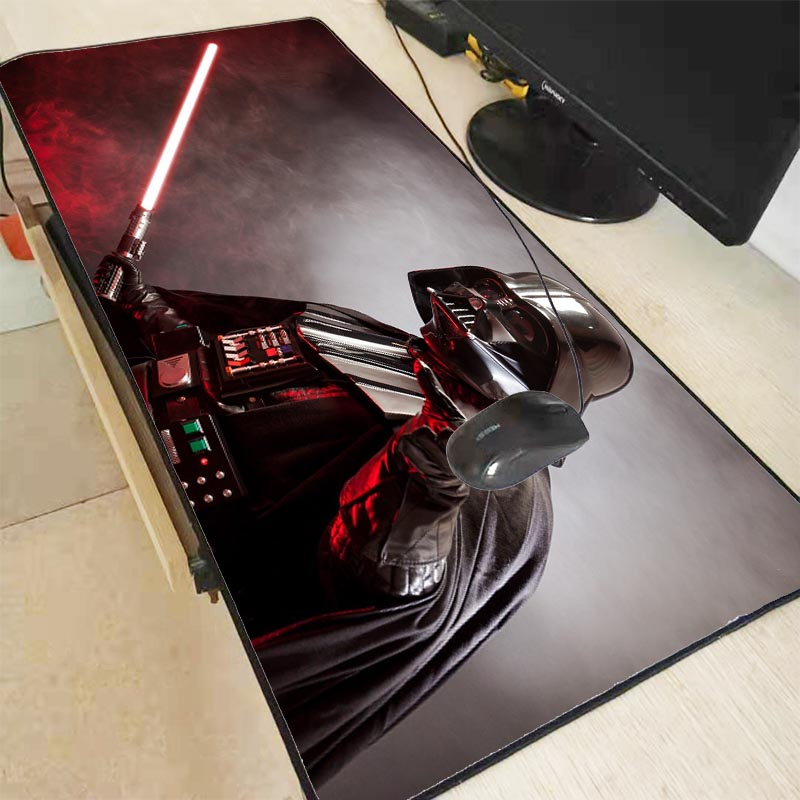 Mairuige 90X40CM Star War Darth Vader High Speed Lock Edge Mousepad Extended Gaming Mouse Pad Large Mousepads For Dota2 CS Gamer