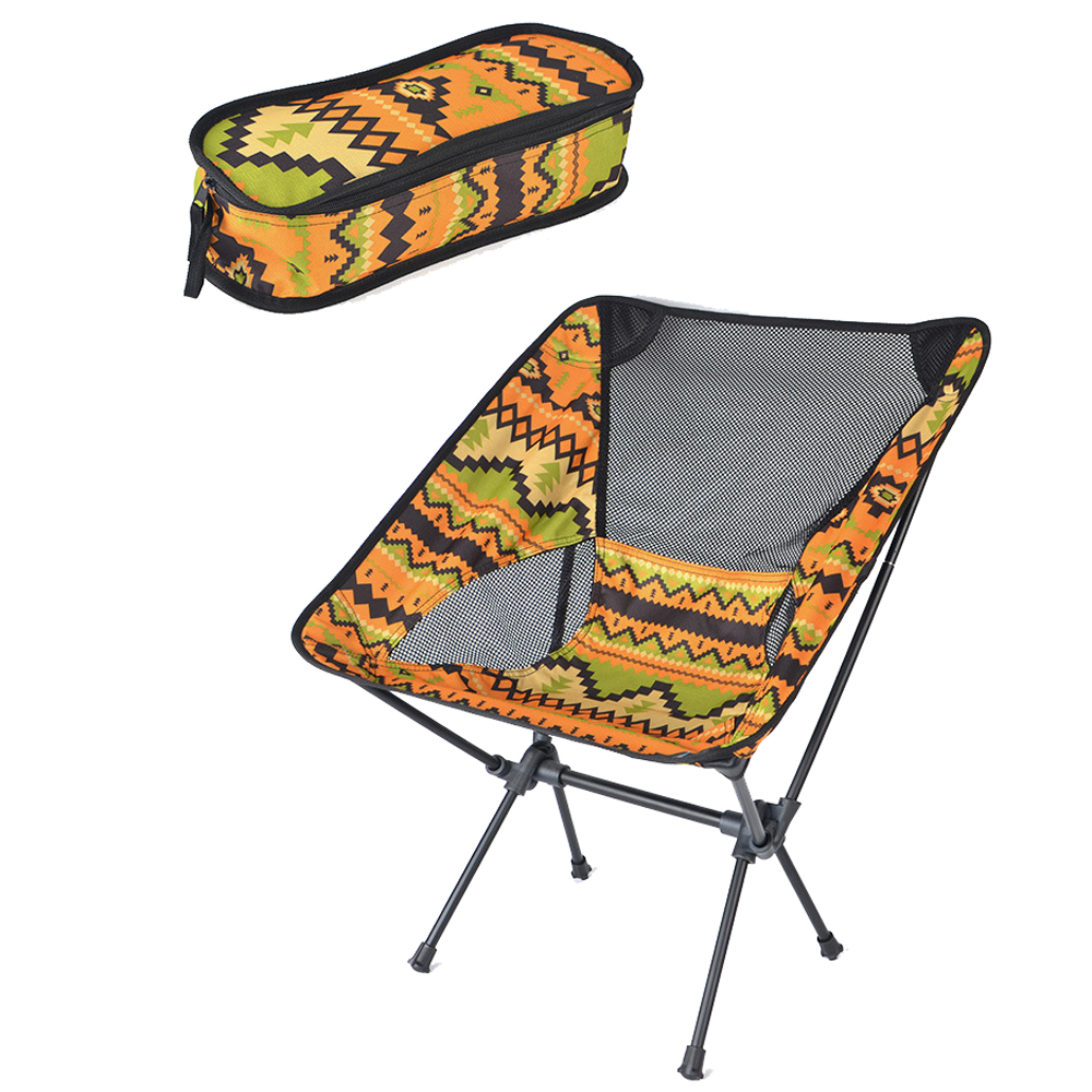 HooRu Foldable Portable chair Picnic Fishing Camping Folding chair Outdoor Backpacking Lightweight chairs with Carry Bag