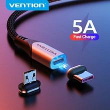 Vention 5A磁気充電ケーブル高速充電usbタイプcケーブルマグネットマイクロusbデータ充電ワイヤー携帯電話ケーブルusbコード