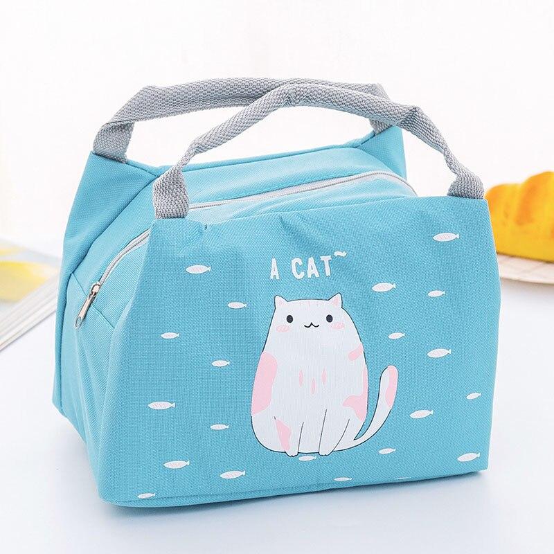 Новая сумка для хранения детского питания, бутылки с молоком, изоляционные сумки, водонепроницаемая сумка с лисой, сумка для обеда, детская теплая Термосумка для еды - Цвет: Blue
