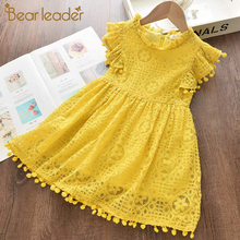 Bear Leader Girls Dress 2020 New Summer Brand Girls Clothes Lace And Ball Design Kids Princess Dress Party Dress For 3-7 Years 2017 brand new girl dress winter kids clothes european and american style leaf pettern design for girls clothes 3 8y