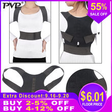 Adjustable Back Posture Corrector Corset Back Spine Support Brace Belt Shoulder Lumbar Correction Bandage Orthosis For Men Women все цены