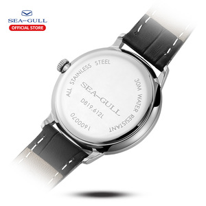 Image 3 - שחף מותג לצפות דק מכאני שעון גבירותיי שעונים אופנה עסקי עור שעון D819.612L