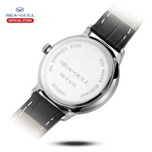 Image 3 - Seagull Marke Uhr ultra dünne mechanische uhr damen uhr mode business leder uhr D 819,612 L