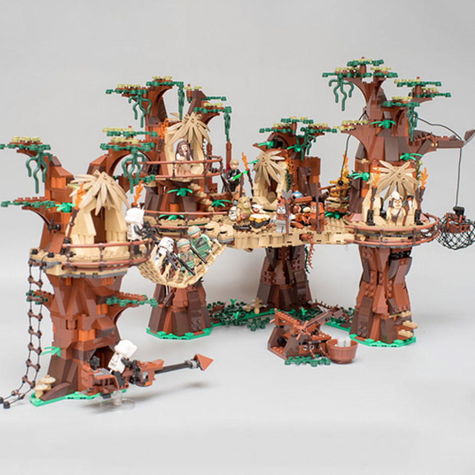 In Stock 05047 1990PCS Star Plan Wars Ewok Village Building Blocks Toys Bricks For Children Compatible With 10236 Christmas Gift