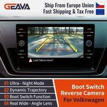 Logotipo lançando câmera reversa canbus dinâmico câmera de visão traseira para volkswagen golf 5 glof 6 golf 7 passat b6 b7 b8 eos polo